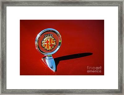 Hood Ornament On Matador Barcelona II Coupe Framed Print