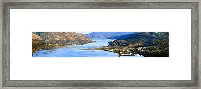 Hood River Bridge, Hood River, Oregon Framed Print