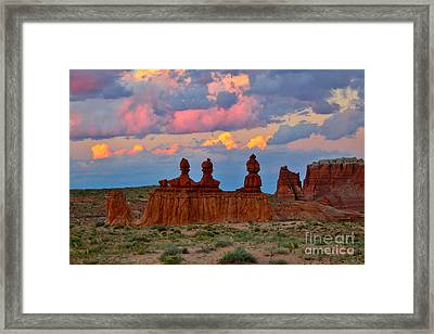 Hoodoo Storm Framed Print by Marty Fancy