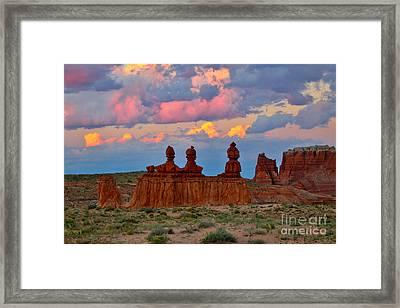 Hoodoo Storm Framed Print