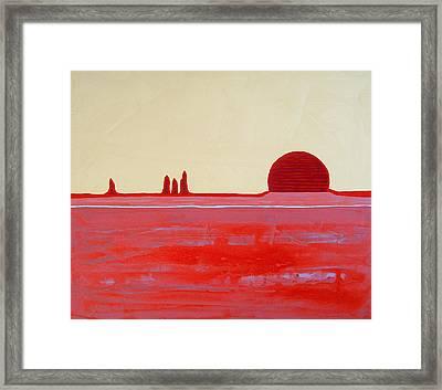 Hoodoo Sunrise Original Painting Framed Print