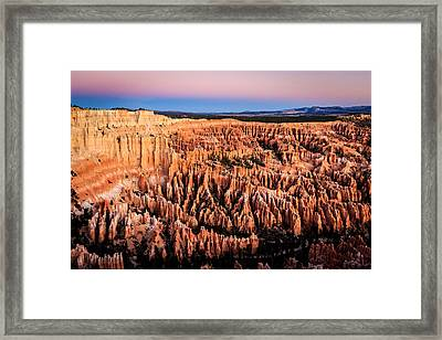 Framed Print featuring the photograph Hoodoos At Sunrise by Peta Thames