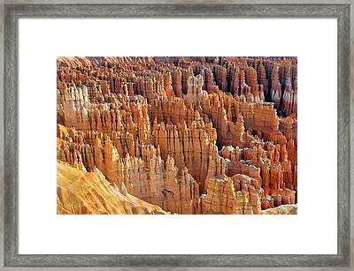 Framed Print featuring the photograph Hoodoos Of Bryce Canyon by Dan Myers