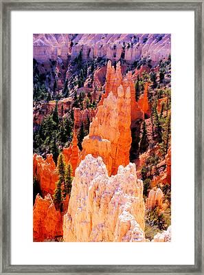 Hoodoos Of Faryland Canyon Framed Print