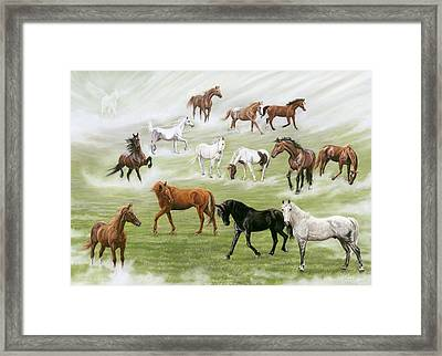Hoofbeats In Heaven Framed Print