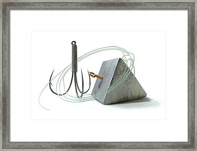 Hook Line And Sinker Framed Print by Allan Swart