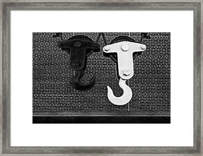 Hook Me Up Bw Framed Print by Susan Candelario