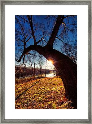 Framed Print featuring the photograph Hook Or Crook by Robert McCubbin