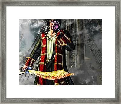 Hook Pirate Extraordinaire Framed Print by Bob Orsillo
