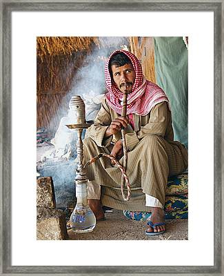 Hookah Smoker Framed Print by Science Photo Library
