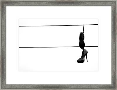 Hooked And Booked  Framed Print