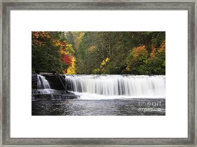 Hooker Falls In North Carolina Framed Print