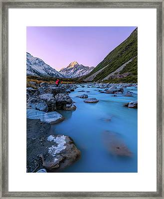 Hooker River, Mount Cook National Park Framed Print by By Arief Rasa