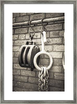 Framed Print featuring the photograph Hooks And Pulleys  by Stewart Scott