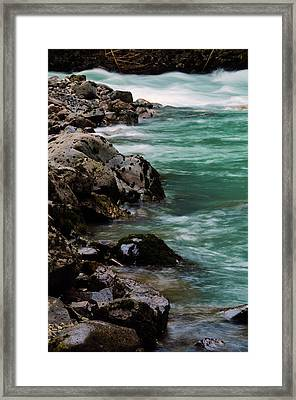 Hooksack River, Mount Baker-snoqualmie Framed Print by Michel Hersen