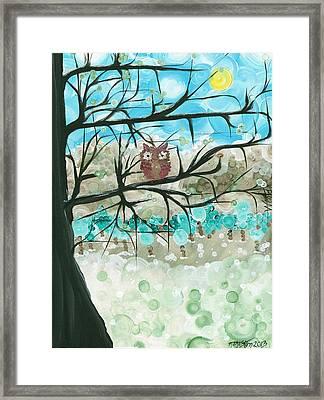 Hoolandia Seasons - Winter Framed Print