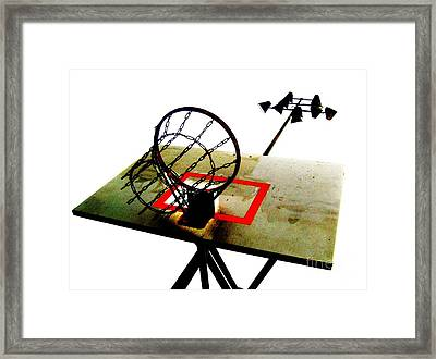 Hoop City Chains Framed Print by John King
