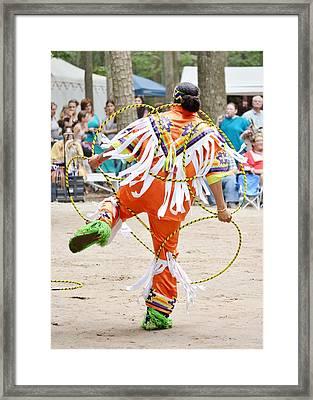 Hoop Dance 2 - Nanticoke Powwow Framed Print by Kim Bemis