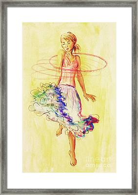 Hoop Dance Framed Print