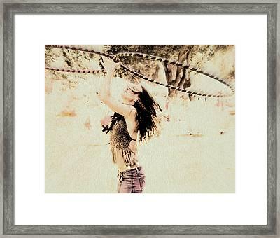 Hoop Dancer  Framed Print