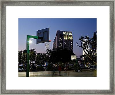 Hoop Dreams Never Sleep Framed Print