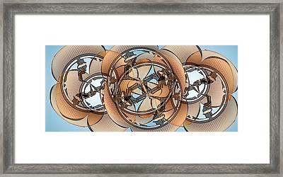 Hoop Flaps Framed Print by Ron Bissett