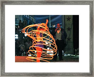 Hoop Master Framed Print by Amanda Just
