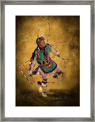 Hooping His Heart Out Framed Print by Priscilla Burgers