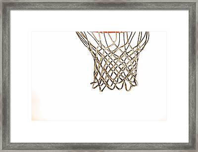 Hoops Anyone Framed Print by Karol Livote