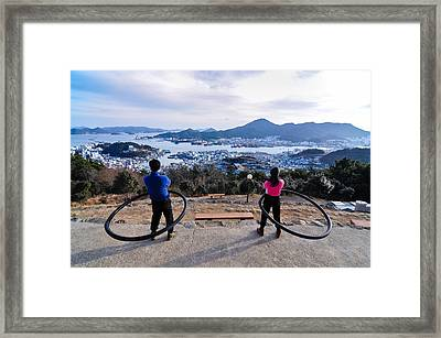 Hoops On The Mountaintop Framed Print