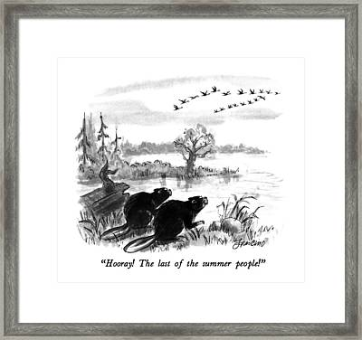 Hooray!  The Last Of The Summer People! Framed Print by Edward Frascino