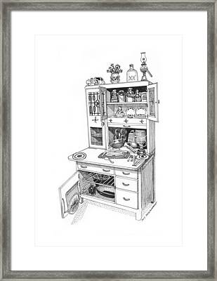 Hoosier Kitchen Framed Print by Jack Pumphrey