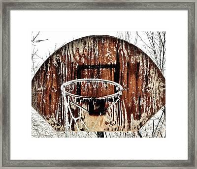 Hoosier Winter Framed Print