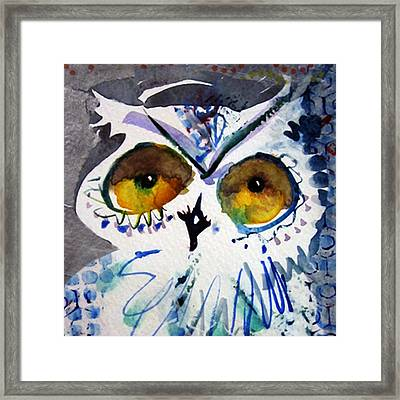 Hoot Cropped Framed Print