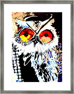 Hoot Digitized Framed Print