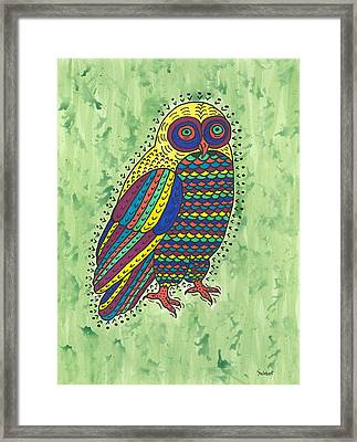 Hoot Owl Framed Print by Susie Weber