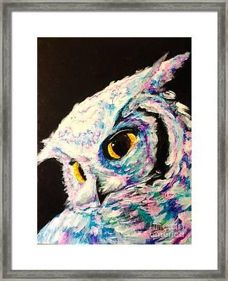 Hoot Framed Print by Rachel  Jones