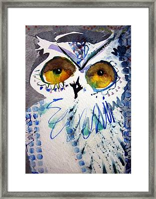 Hoot Uncropped Framed Print