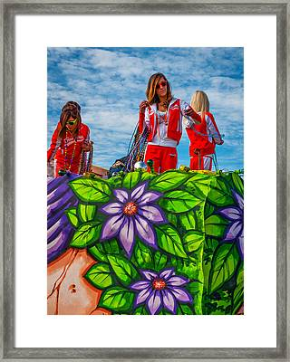 Hooters Girls Framed Print