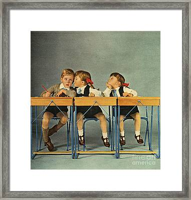 Hoover 1963 1960s Uk Schools Children Framed Print by The Advertising Archives