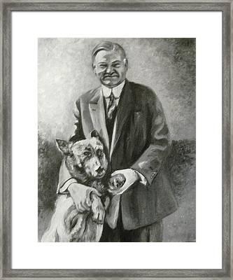 Hoover And King Tut Framed Print by Martha Suhocke