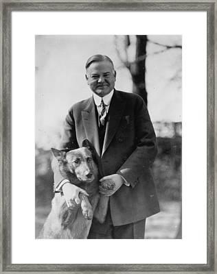 Hoover And King Tut Framed Print