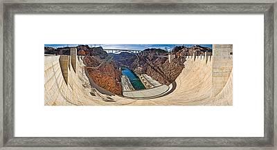 Hoover Dam, Lake Mead, Arizona-nevada Framed Print