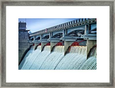 Hoover Dam Ohio Framed Print by Victoria Winningham