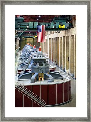 Hoover Dam Turbine Hall Framed Print by Jim West