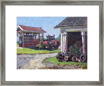 Hoover Farm In Sanborn Framed Print