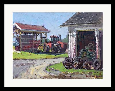 Tractor Tire Framed Prints