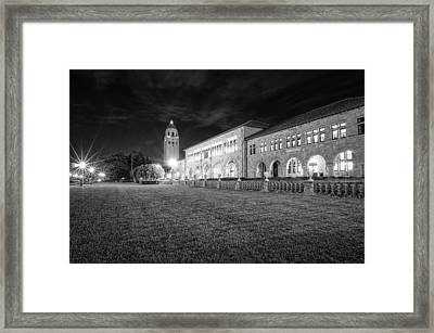 Hoover Tower Stanford University Monochrome Framed Print by Scott McGuire