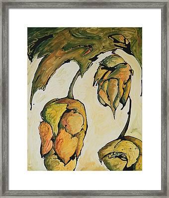 Hop Harvest Framed Print by Alexandra Ortiz de Fargher