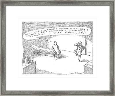 'hop? Jig? Dance? You're A Dancer? Sounds Like? Framed Print by John O'Brien